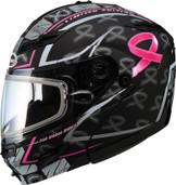 GMAX GM54S Pink Ribbon Rider Helmet Lg  G2545406