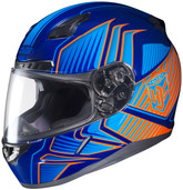 HJC CL-17 Redline Helmets LRG Blue Orange 828-964
