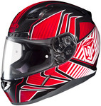 HJC CL-17 Redline Helmets MED Red Multi 828-913
