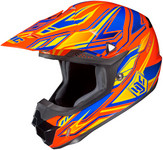 HJC CL-X6 Fulcrum Helmets MED Blue Orange 738-963