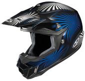 HJC CL-X6 Whirl Helmet Lg Black/Blue HJC736-924