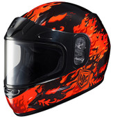 HJC CL-Y SN Flame Face Youth Snow Helmet Md Orange 233-913