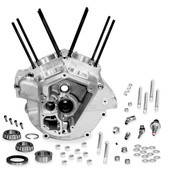 S&S Cycle Super Stock Alternator Style Crankcase Standard Bore Natural 31-0003
