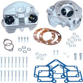 S&S Cycle Super Stock Cylinder Heads (Band Intake) 3-5/8in. Bore Natural 90-1499