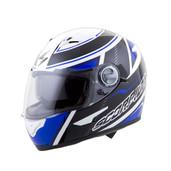 Scorpion EXO-500 Corsica Helmet Lg Blue/Black 50-6665