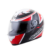 Scorpion EXO-500 Corsica Helmet Md Red/Black 50-6244