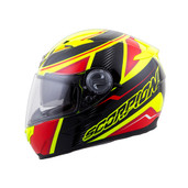Scorpion EXO-500 Corsica Helmet Md Red/Neon 50-6514
