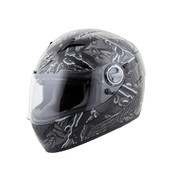 Scorpion EXO-500 Crude Helmet Md Black/Grey 50-9444