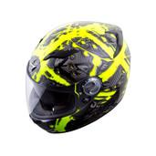 Scorpion EXO-500 Crude Helmet XS Black/Neon 50-9532