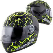 Scorpion EXO-500 Numbskull Helmet Lg Black/Neon 50-11535