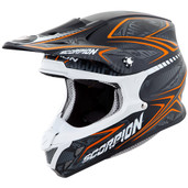 Scorpion VX-R70 Blur Off Road Helmet Md Orange 70-5084
