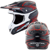 Scorpion VX-R70 Blur Off Road Helmet Md Red 70-5014