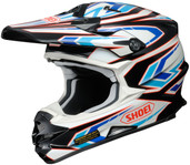 Shoei VFX-W Block Pass Helmet MED Blue 0145-8702-05