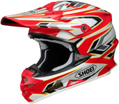 Shoei VFX-W Block Pass Helmet XSM Red 0145-8701-03