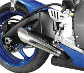 Hotbodies Megaphone Polished Dual Slip-On Suzuki Exhaust 60802-2100