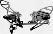 Vortex Adjustable Rear Set  Black  RS205K
