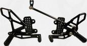 Vortex Adjustable Rear Set Version 2  Black  RS265K