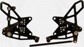 Vortex Adjustable Rear Set Version 2  Black  RS411K