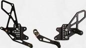 Vortex Adjustable Rear Set Version 2  Black  RS553K