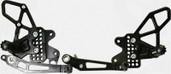 Vortex Adjustable Rear Set Version 2  Black  RS572K