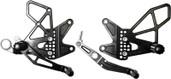 Vortex Adjustable Rear Set Version 2  Black  RS616K