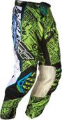 Fly Evolution Race Pant Green/Black Sz 30 365-13530