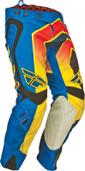 Fly Evolution Vertigo Pant Blue/Yellow/Black Sz 38 367-23138