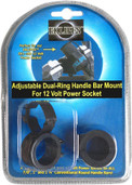 Adjustable Dual-ring Handle Bar Mount (black) EK1-161B
