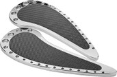 Prec. Billet Floorboards Passenger Teardrop Fullsize (chrome) HD-TEAR-FLOORP