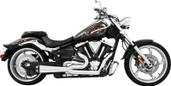 Freedom Exhaust 2 Into 1 Chrome/Black Vtx1300c/r/s MH00010