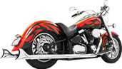 Freedom Exhaust True Dual Sharktail Standard Chrome Roadstar 1600-1700 MY00065