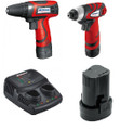 7.2v Compact drill + Compact impact driver 3/8 + 2 Batteries + Charger Kit