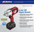 ARI120119 ACDELCO 18 VOLT IMPACT WRENCH