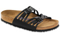 birkenstock granada black oiled leather soft footbed