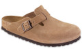 birkenstock boston jasper suede soft footbed