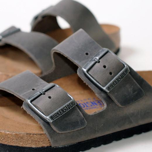123220e1840 birkenstock arizona iron oiled leather soft footbed. Image 1. Loading zoom