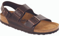 birkenstock milano amalfi brown leather