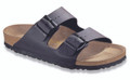 birkenstock arizona black birko-flor soft footbed