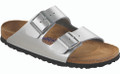 birkenstock arizona silver birko-flor soft footbed