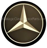 Emblem, MB, Crystal Cal Self Adhesive Tri Star Logo