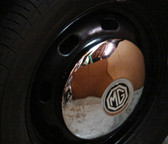 Wheel, Covers, MG Replica (Chome) Half Moon (Each)