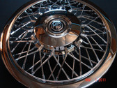 "Wheel, Covers, MG Replica (Chrome) Spoke ABS (Set) (5) 15"" **Seconds** (Scratches in Chrome Finish)"