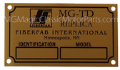 "Badge, Identification Plaque ""FiberFab"" MG-TD"