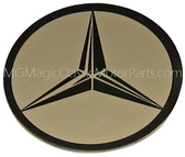 "Emblem, MB, 1 ½"" Stainless Steel Self Adhesive Tri Star Logo"
