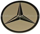 "Emblem, MB, 1 ½"" Stainless Steel Self Adhesive Tri Star Logo"