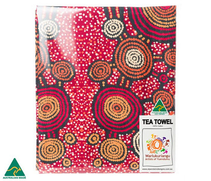 6875 TEA TOWEL TEDDY GIBSON