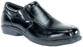 Black Slip-On Oxford, Steel Toe