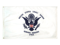 UNITED STATES COAST GUARD 3ft x 5ft Nylon 1 ply Flag with GROMMETS