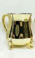 Metal Coated Acrylic Wash Cup - Yellow Gold