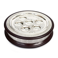 """Wood and Silver Plate 2 in 1 Seder Plate & Matzah Box 17"""""""